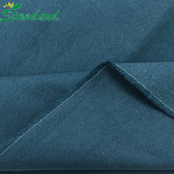 new design woven plain 100% cotton solid dyed duck canvas fabric for bags