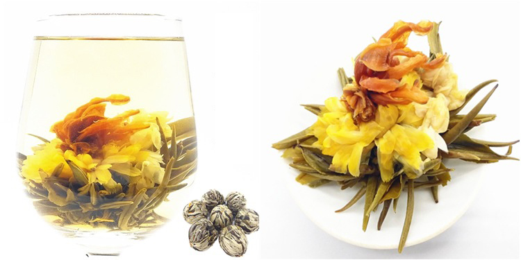 Handmade Organic Beautiful Blooming Tea  with Private Label