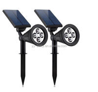4Leds White outdoor led solar Spot lights garden /super bright 4led solar spot light outdoor led solar garden light
