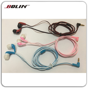 New Style Flat Wire 90 Degree Bent Plug Top Rated In Ear Headphones