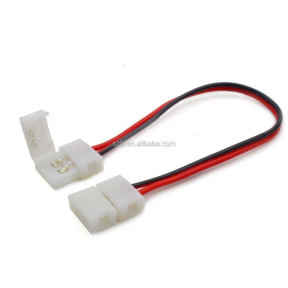 2 Pin Wire Connectors Types 12v Single Color Led Strip Light ...