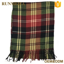 Neckwear Acrylic Material Customized Unisex Winter Fashion Hot Sale Classic Men's Scarf