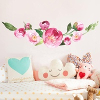 3D Wall Decal Beautiful Flower Wall Sticker Floral for Girls Bedroom Living Room Nursery Decor for Walls