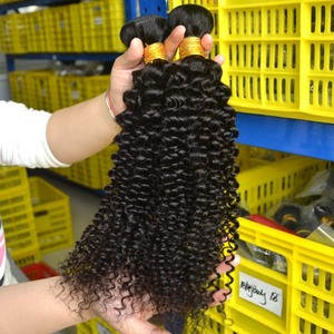 Mink single donor grade 9a virgin hair malaysian curly hair