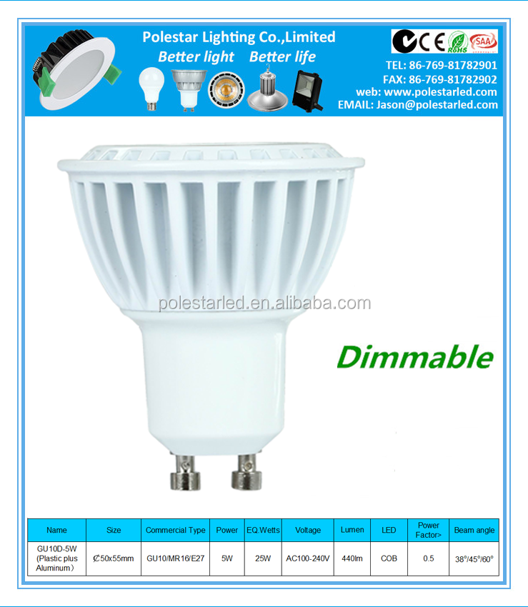 Australian New Zealand standard approvide the led downlight MR16 LED spot light GU10 LED spotlight 5W 7WLED lamp bulb light E27