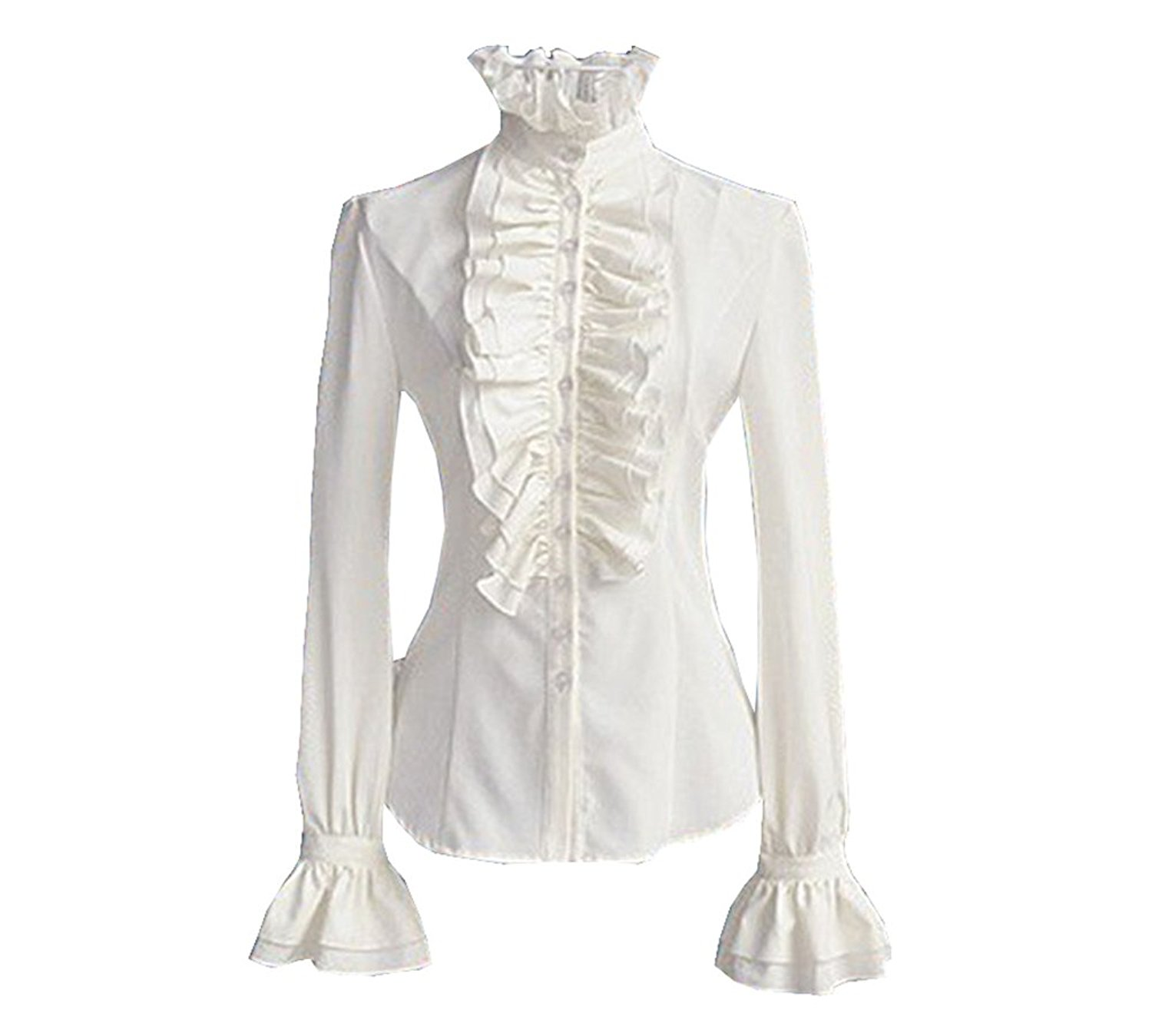 Cheap White Blouse With Ruffle Collar Find White Blouse With Ruffle