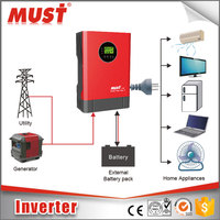 MUST Power Inverter 3000W 24V 48V 12V AC 220V Circuit Diagram RS232
