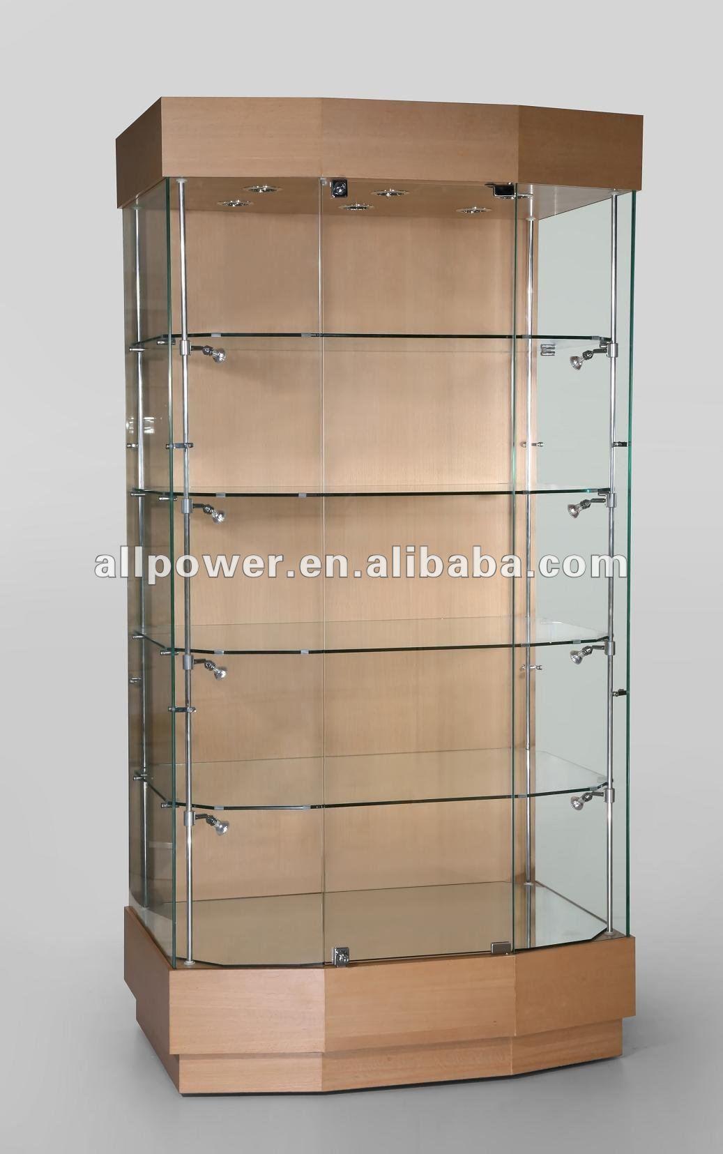 Vitrina de madera vitrina de vidrio templado y acabado - Vitrinas de pared para colecciones ...