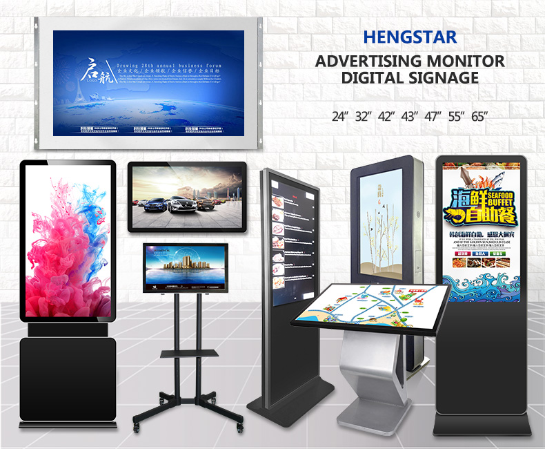 "32"" 42"" 43"" 55 Inch High Quality Full HD 1920*1080 Resolution Advertising Touch Screen Display Monitor"