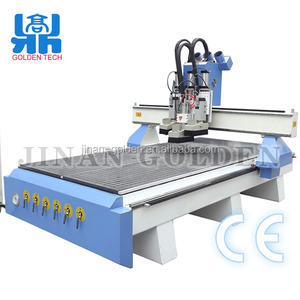 GT-R1325A hot sale cnc router for wood door making/3 spindle head /engraver machine wood cnc route