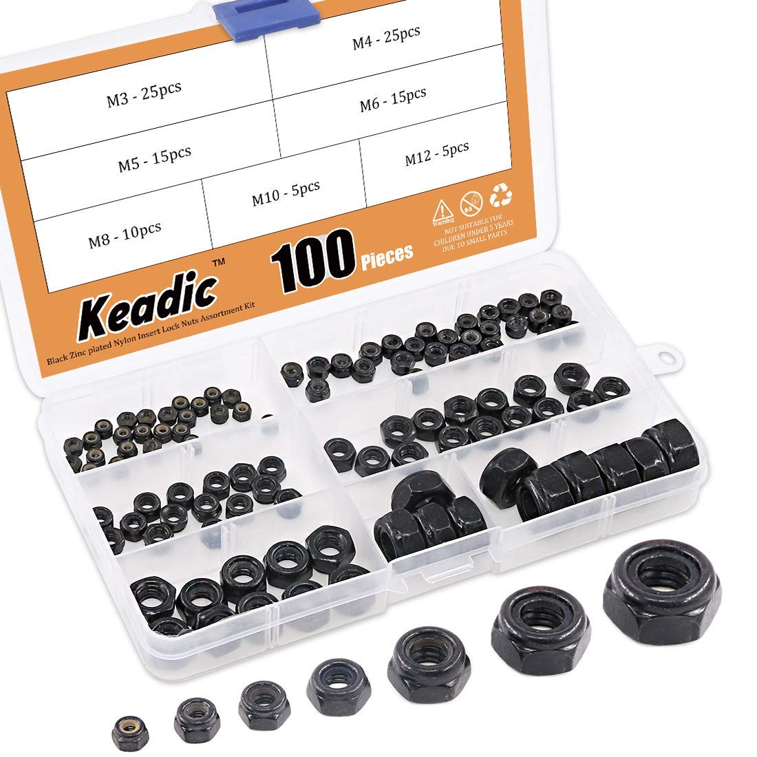 Aexit M6 Thread Screws /& Bolts 304 Stainless Steel Hex Nut Expansion Bolts Expansion Bolts Screws 5pcs