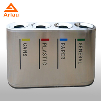 durable stainless steel classify waste bin,recycling containers