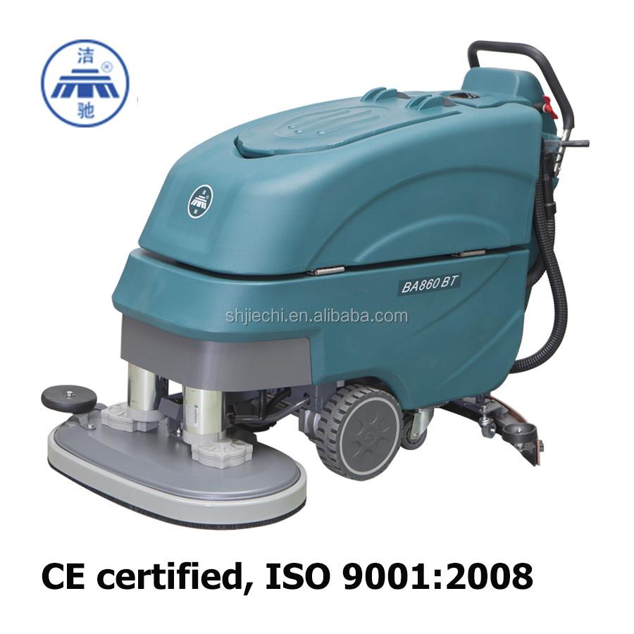 Dual brush floor scrubber gurus floor for Concrete cleaning machine