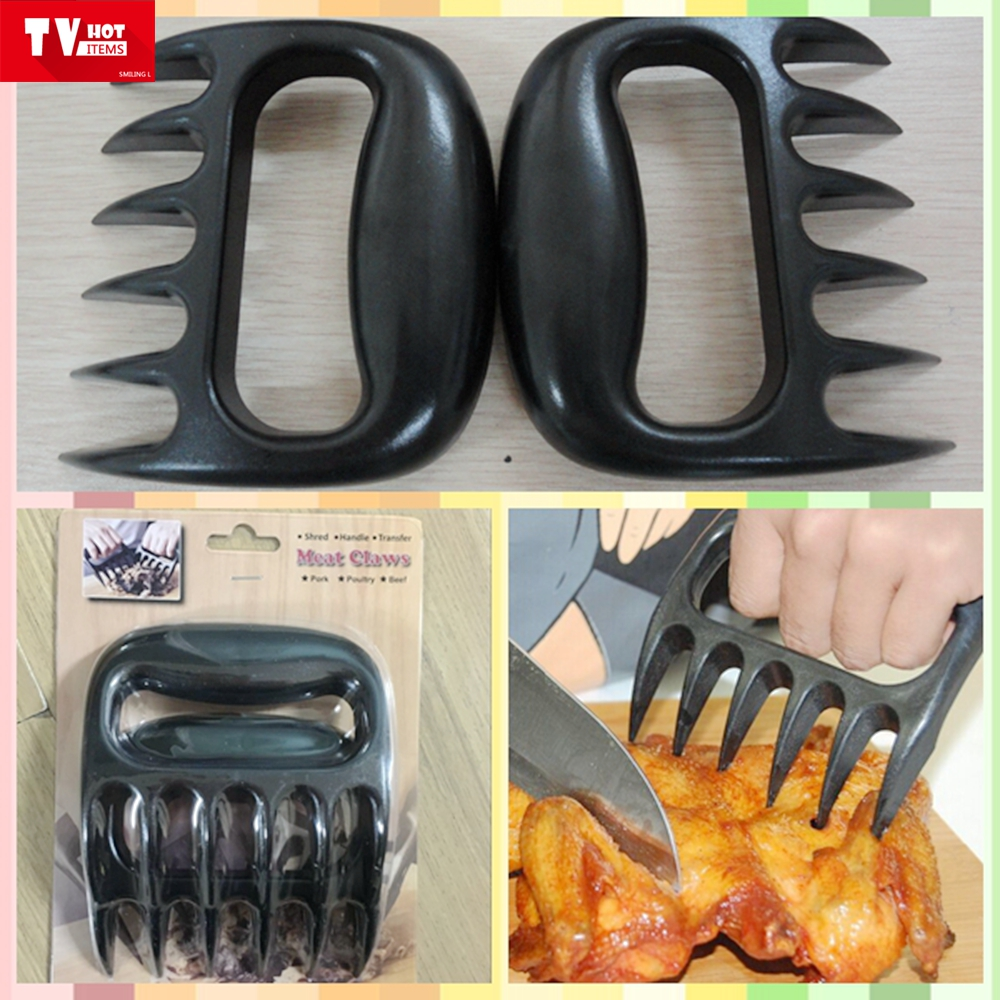 MINI Bear Claw Meat Claw tool (Set of 2) - Meat Handleand Shred Claws for Pulled Beef turkey