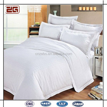5 Star Hotel Used Cotton Customized Size Whole White Bed Sheets