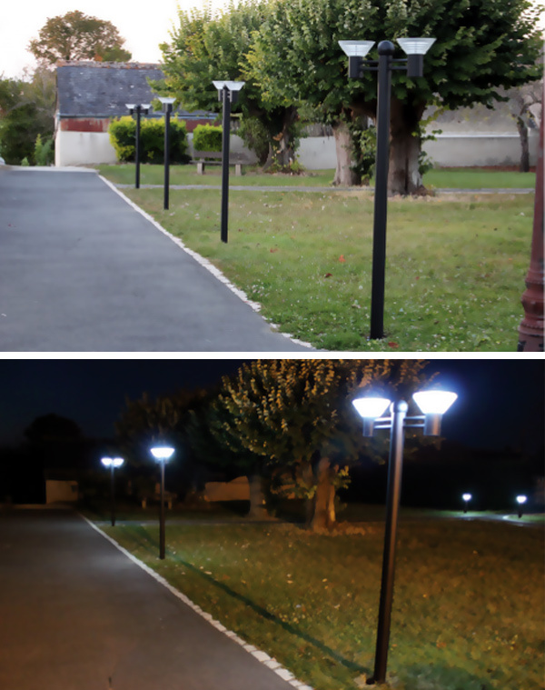 Led Garden Light With Lamp Post Parts With 36 Pcs Led Source China ...