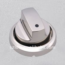Fashion and high quality shiny nickle BBQ knob with pedestal