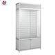 Hot aluminum slat wall display rack, lockable display furniture for cell phone accessory