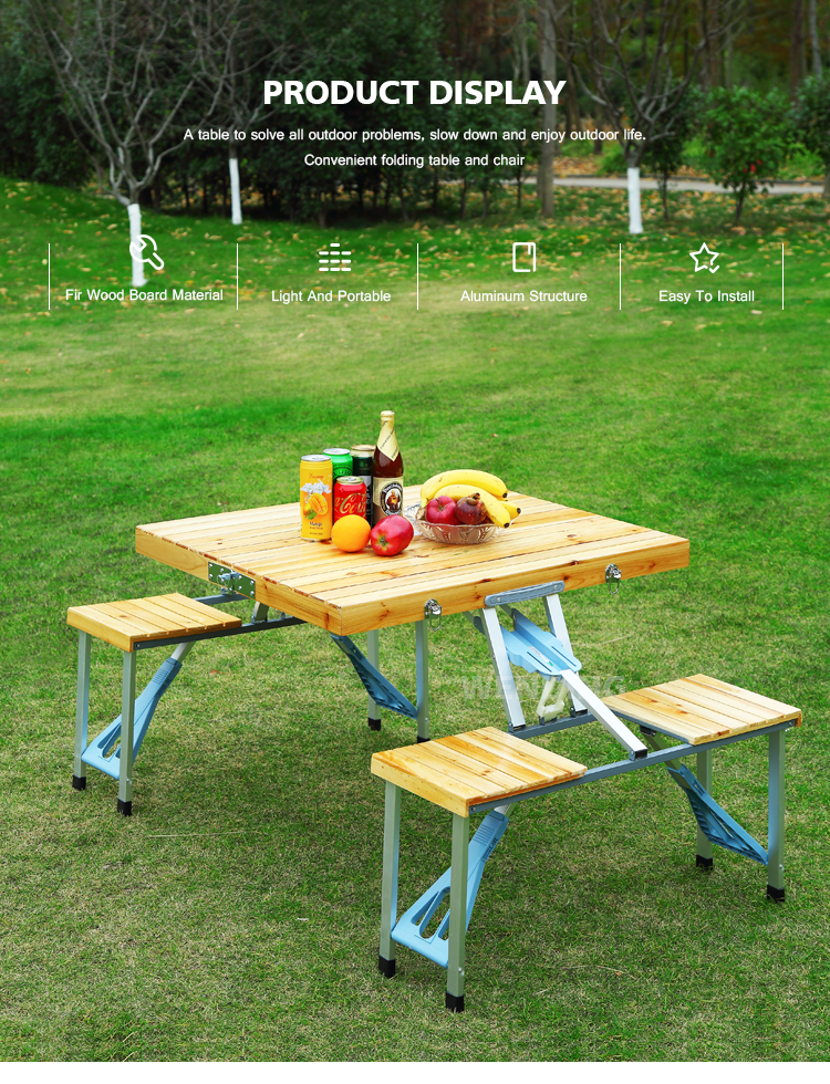 Phenomenal Modern Portable Travel Outdoor Camping Wooden Briefcase Folding Tables Foldable Picnic Wood Table And Chair Set Buy Picnic Table Wood Product On Frankydiablos Diy Chair Ideas Frankydiabloscom