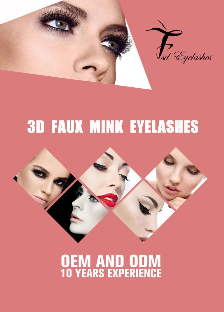 Top Sale Lashes Private Label Silk Eyelash 3D faux mink lashes