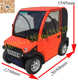 new arrival adult 60V 3kw electric car with 4 seats for sale