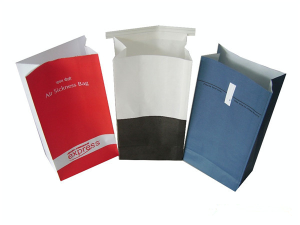 "Disposable Paper Vomit/Barf Bags,""Traveler"" Barf Bags - Travel & Motion Sickness Bags"