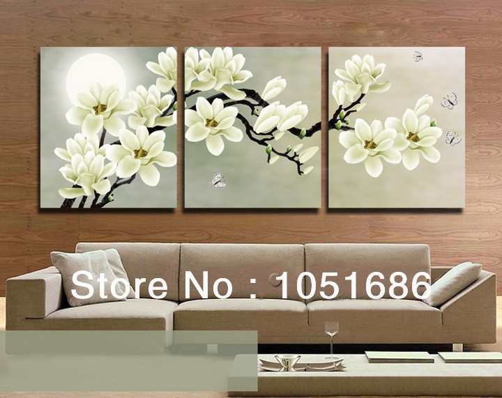 High Quality Hand Painted 3 Piece Wall Art Tree Branches