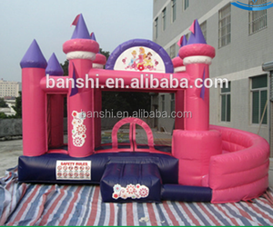 Commercial water park projects small inflatable bouncer inflatable bouncy castle with water slide