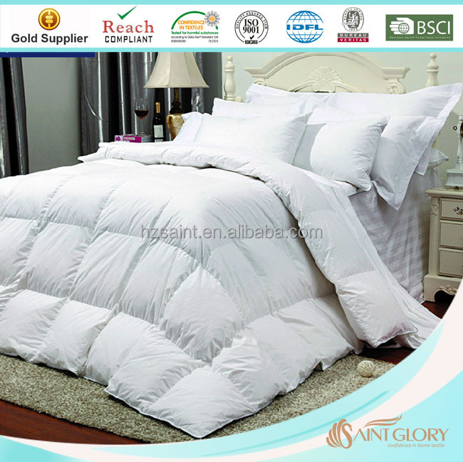 Organic Cotton 550 FP Grey Duck / Goose Down Comforter