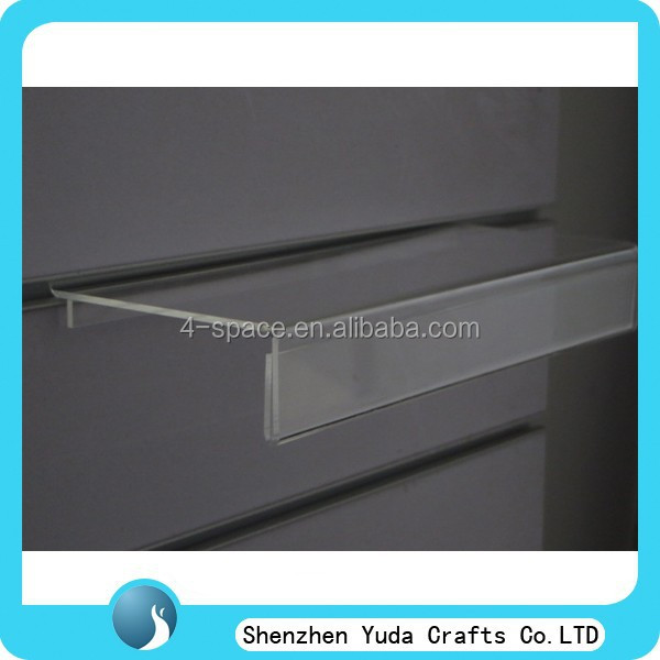 Slat wall plexiglass display for sport shoe