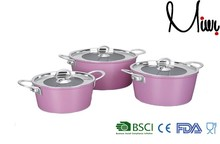 6PCS Pink cookware sets hot pot casserole set smart cook products