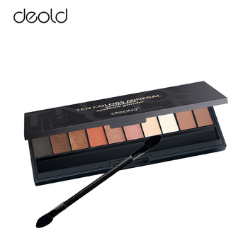 ten colors mineral eyeshadow palette makeup private label eyebrow powder