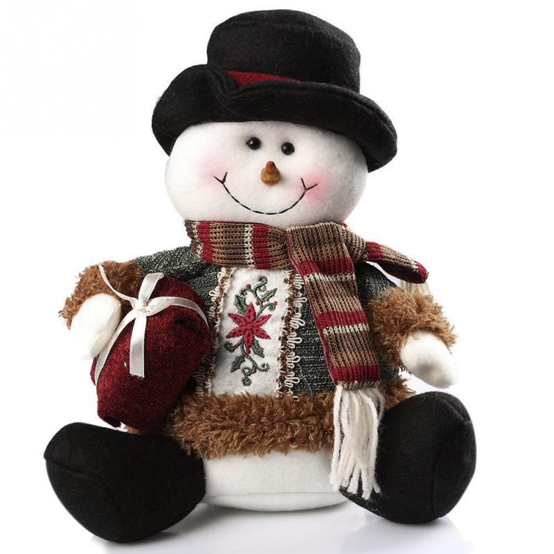 Newest Fashion Lovely Snowman Santa Deer Design Christmas Ornament Home Decoration