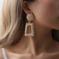 Hot Sell New Designs Gold Color Metal Earring Vintage Tassel Earrings For Women