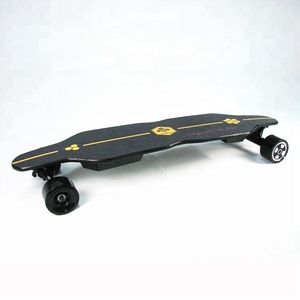 38 inch bamboo 22 MPH top speed 13 Miles max range best electric skateboard all terrain