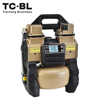 oil free brushless mini car tire cordless oilless 1HP silent portable pneumatic dc air compressor pump tank 5L alum.