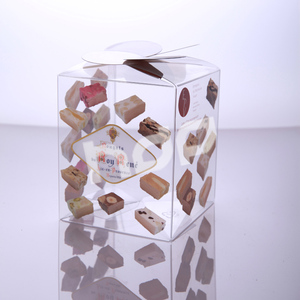 custom transparent pvc clear box packaging for cookie,biscuit