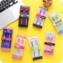 Universal cute cartoon noodle earphone earbuds headphone bests auriculares for mp3 mp4 pc smartphone in ear phones free shipping