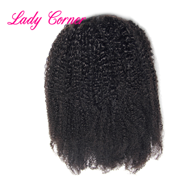 New arrival hot selling human hair ponytail hair extension for black women kinky curly ponytail