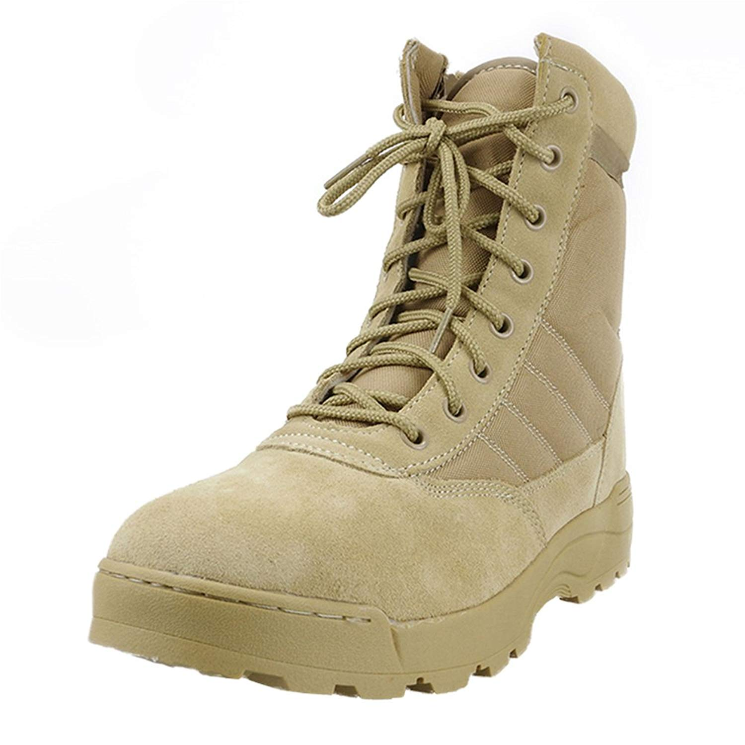 bac5169fe285 Get Quotations · Wonvatu Military Tactical Boots Side Zipper Army Boots  Breathable Military Jungle Boots for Men Women