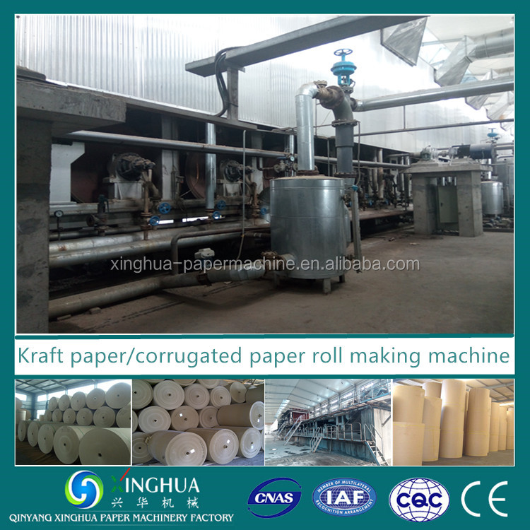 Carton Corrugated board paper making machine from waste paper