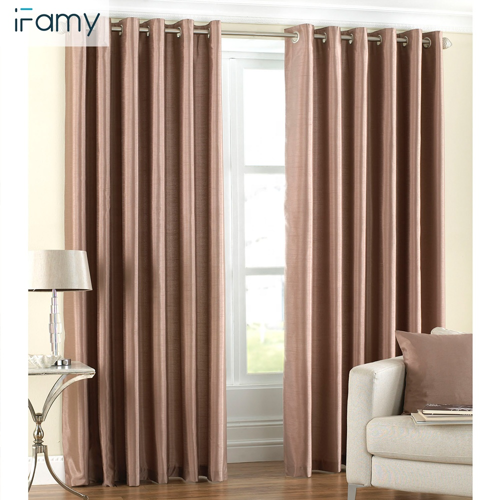 Modern Woven blackout custom made curtains for hotel