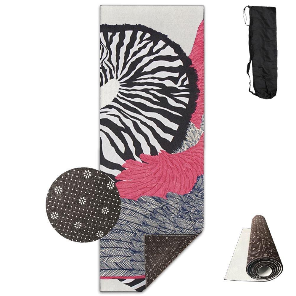 QNKUqz Abstract Zebra Wings Deluxe Yoga Mat Aerobic Exercise Pilates