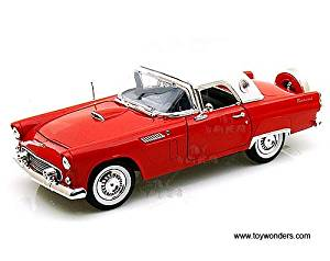 73176AC/R Motormax Premium American - Ford Thunderbird uxc071m8bv0 Hard Top (1956, 1/18 scale dc0haz9bo diecast model car, Red) 73176 diecast car model 1956 Ford Thunderbird H