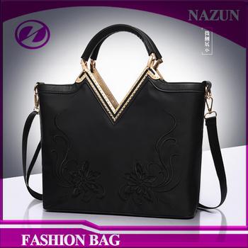 2017 Nazun Factory High Quality Stylish Brand Custom Women Fashion Zipper Waterproof Nylon Tote Shoulder