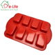 RED COLOR NON-STICK 8-CAVITY MINI LOAF PAN