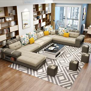 Modern Set 7 Seater Combination Living Room Wooden Sofa Furniture