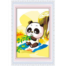 Panda design kids toys diy painting by number wholesale 20*30cm