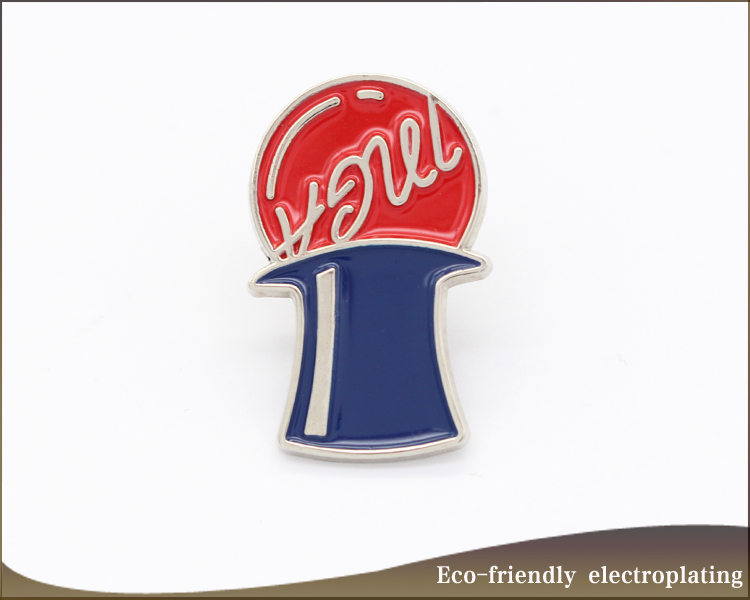 Die cast  gold plating custom logo name badge metal crafts soft enamel lapel pins for souvenir