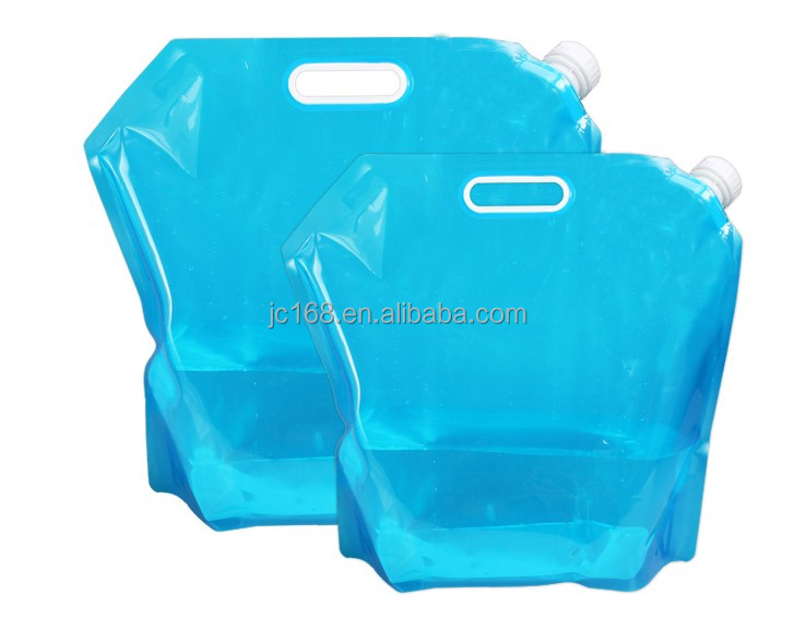 3L 5L 10L Private Label Reusable Camping Plastic Foldable Drinking Water Bag